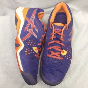 Asics E5501 Gel Resolution Orange & Purple Running